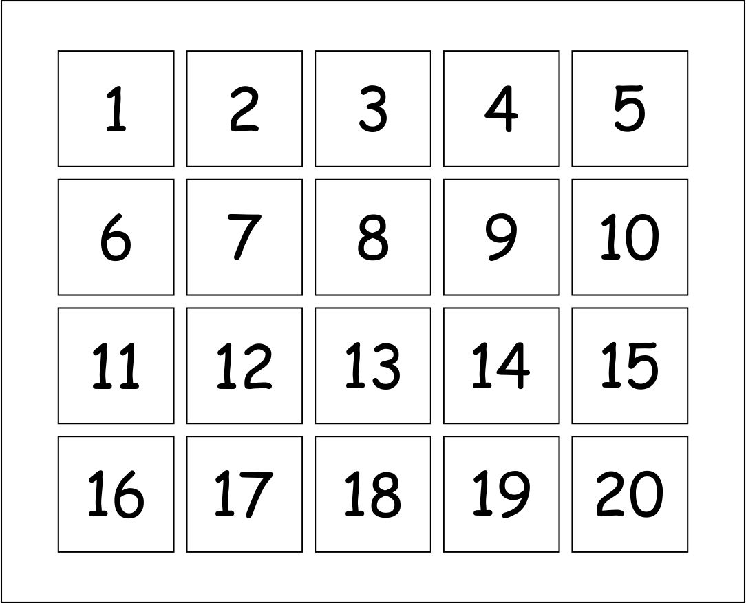 Collect Preschool Numbers To Put On A Calendar For August 1 31