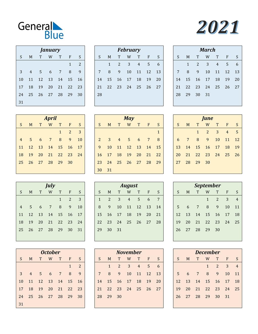 Collect Prinable 2021 Calendar No Downloads