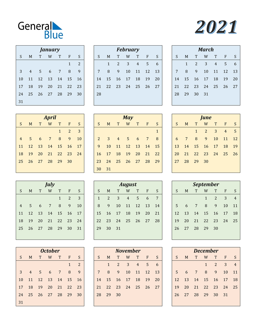 Collect Print Free 2021 Calendar Without Downloading