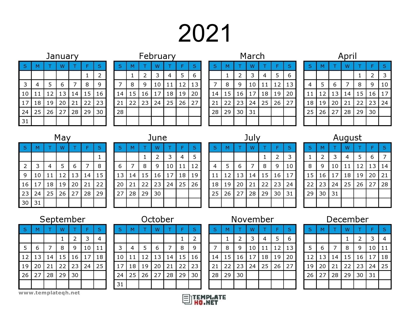Collect Printable 2021 Calendar