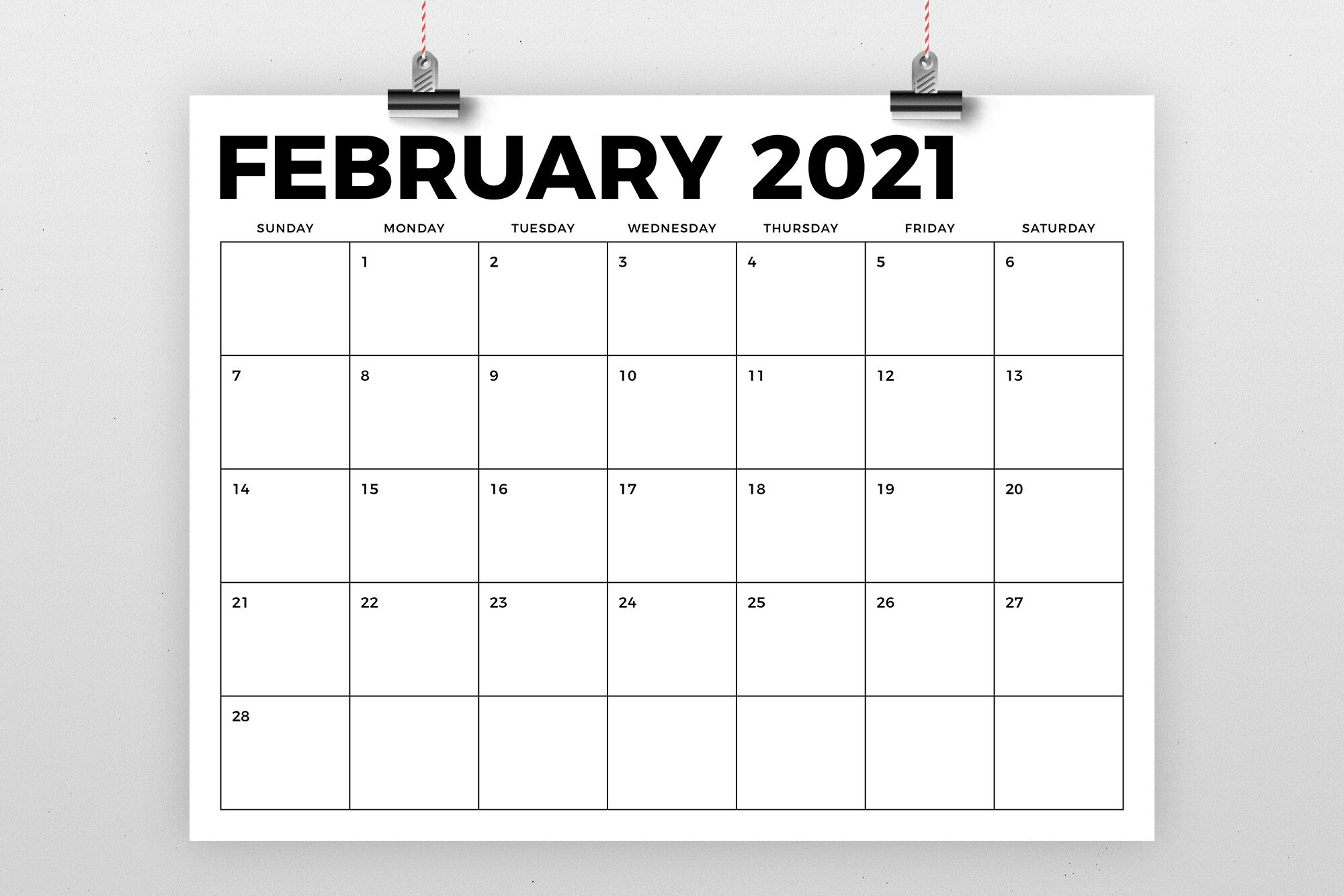 Collect Printable 8.5X11 Calendar