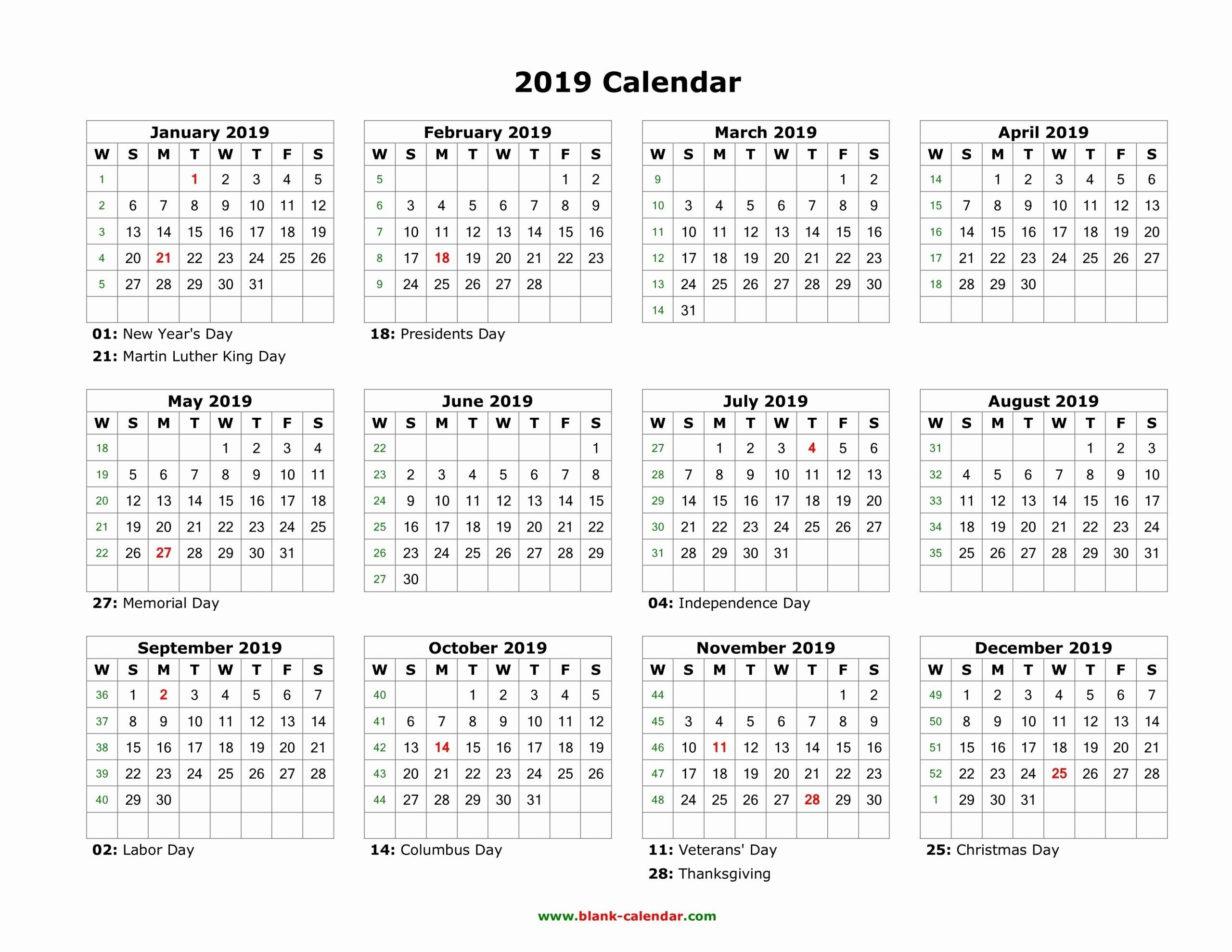 Collect Printable 8X11 Bw Yearly Calendar