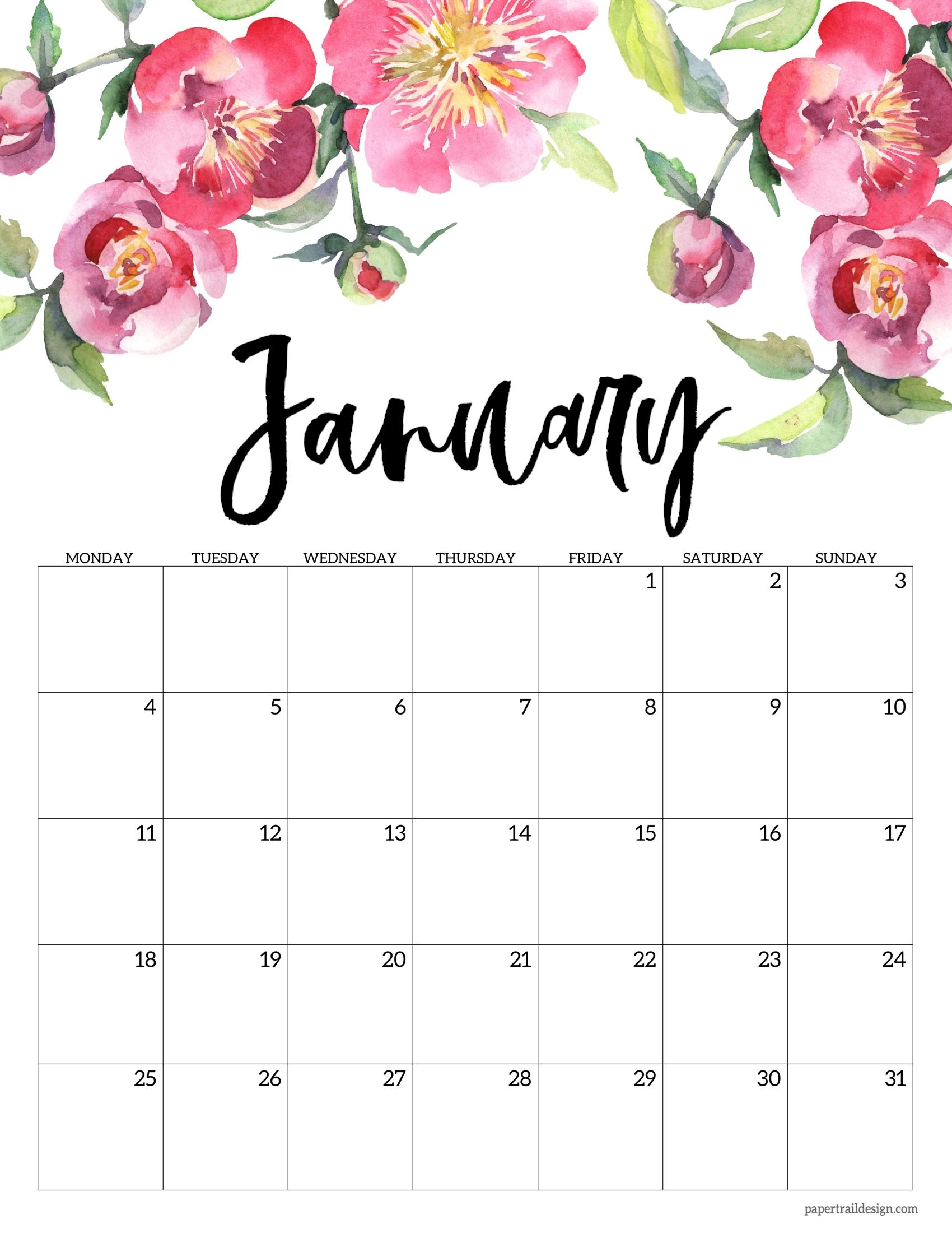 Collect Printable Calendar 2021 Starts On Monday