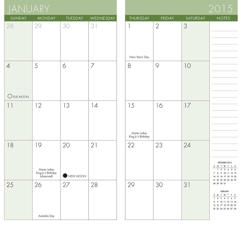 Collect Printable Pocket Calendars Online