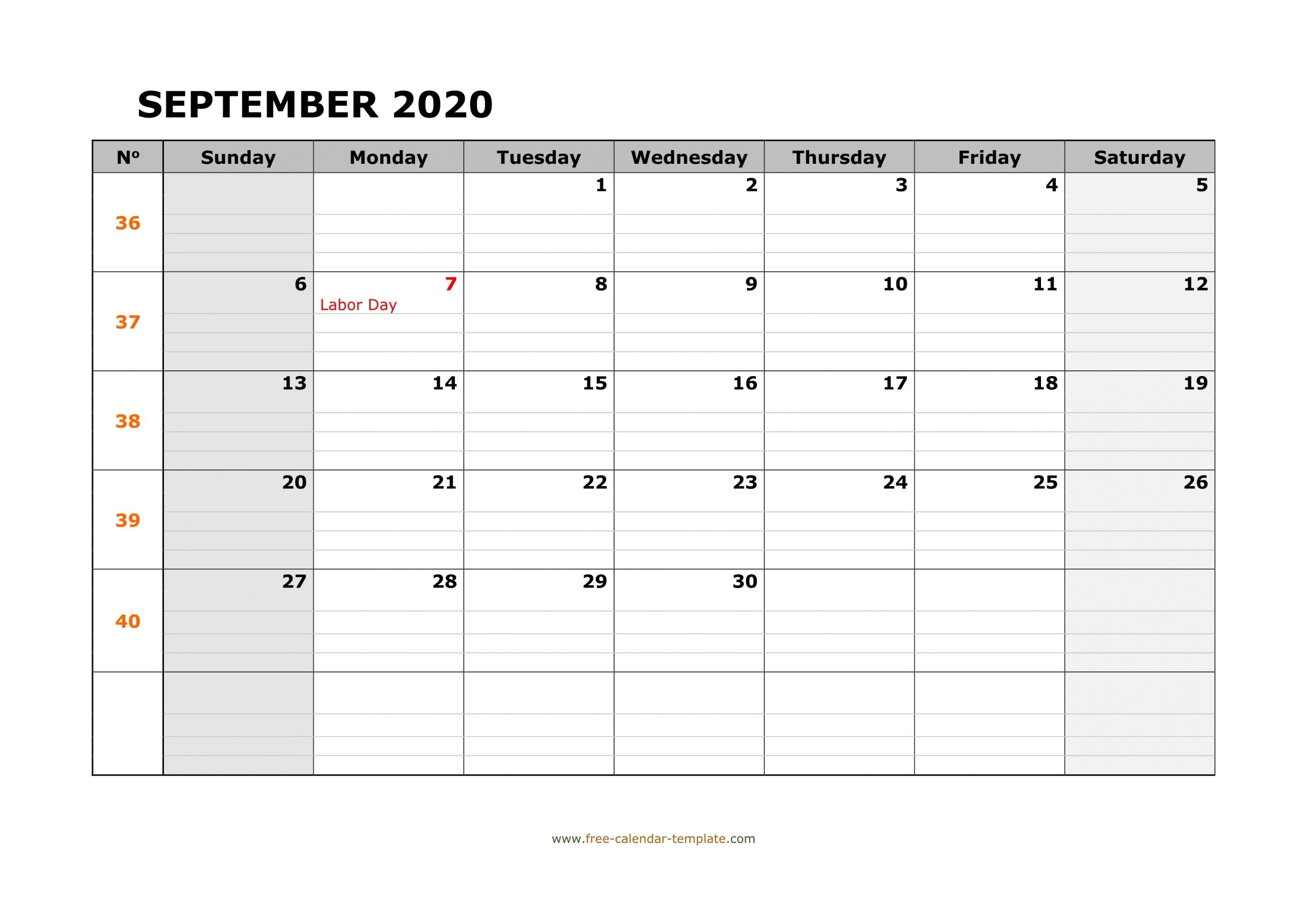 Collect Printable September Calendar With Last Week Of August