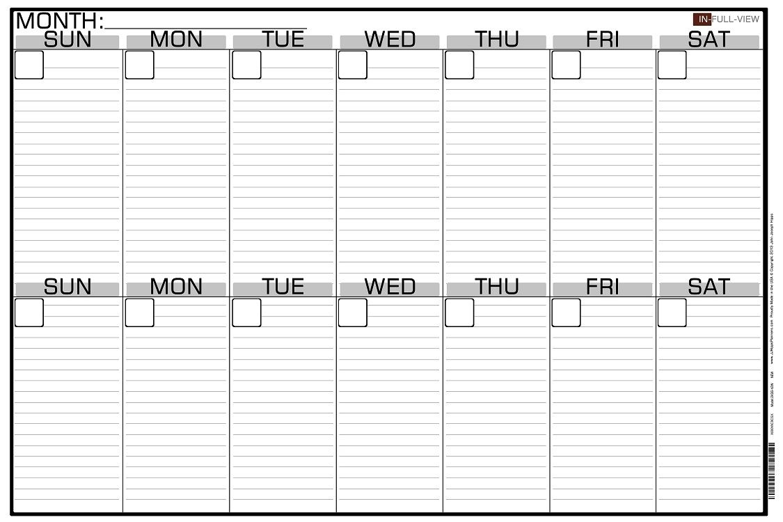 Collect Printable Two Week Calendar