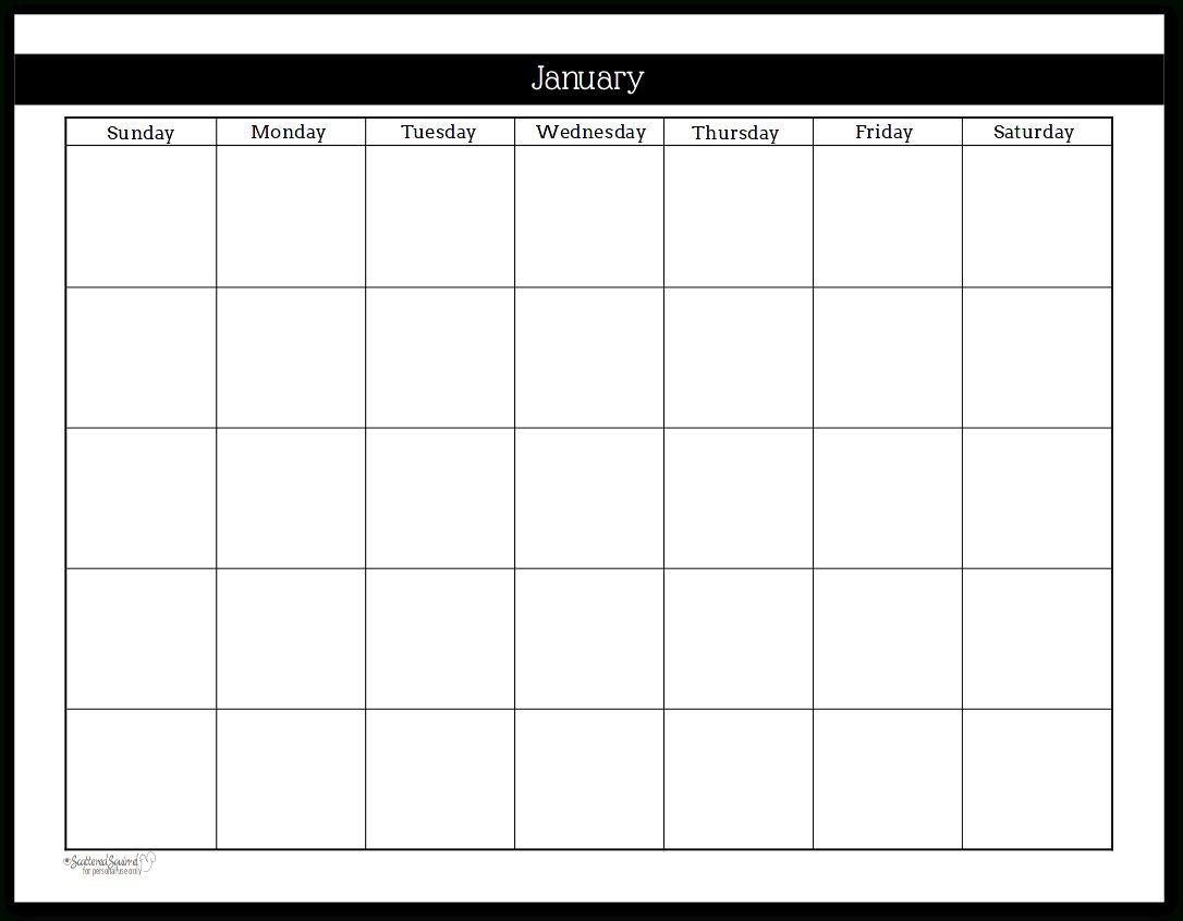 Collect Printable Undated Calendar