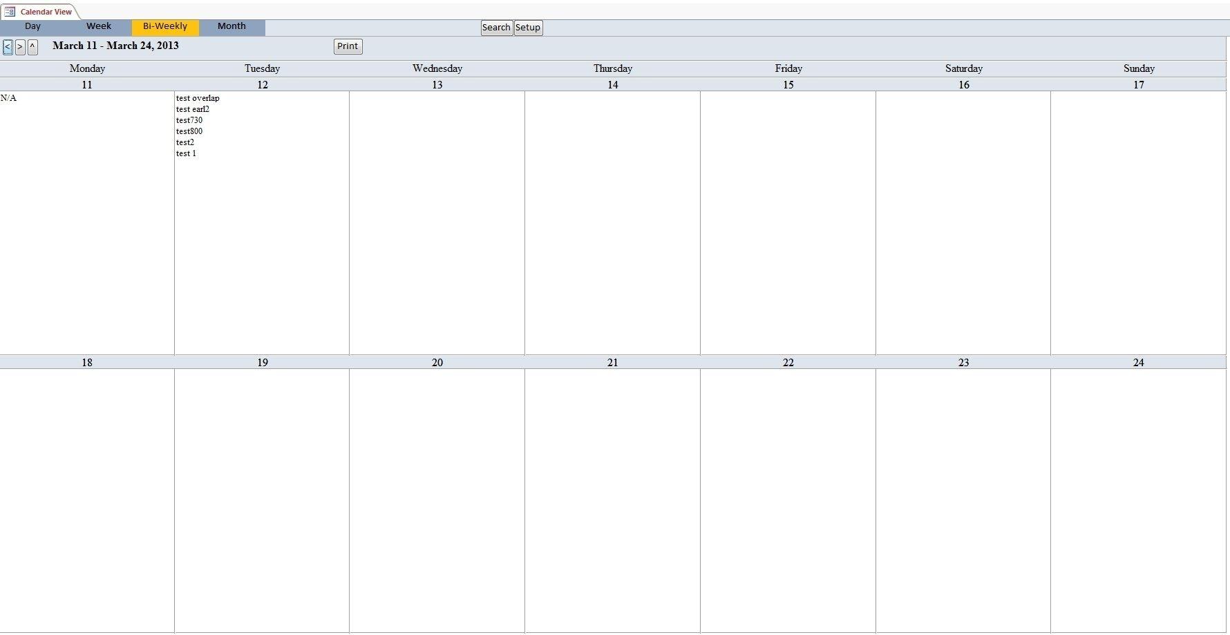Collect Scheduling Worksheet Biweekly Free Print