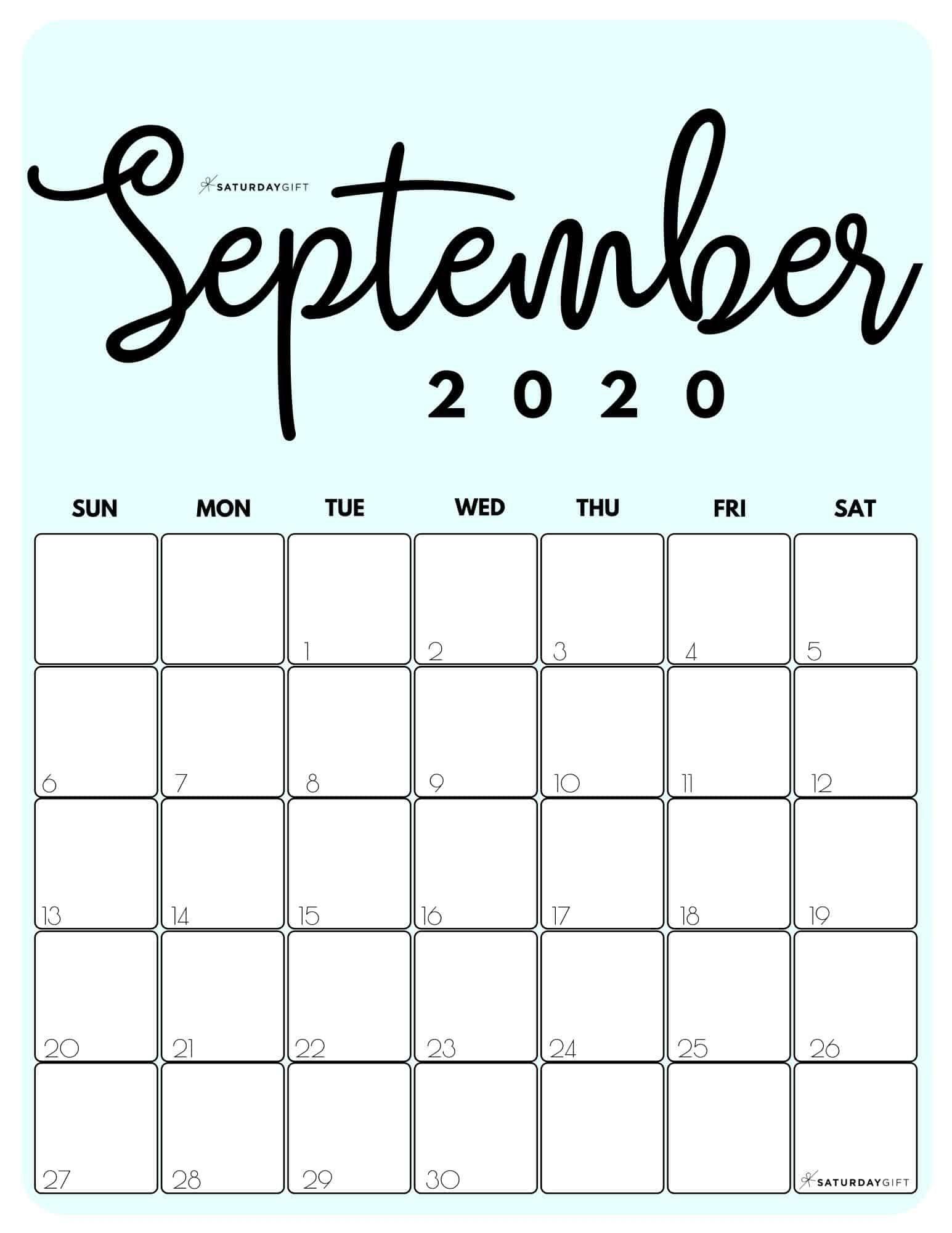 Collect September Calendar 2021 Printable Free Pretty