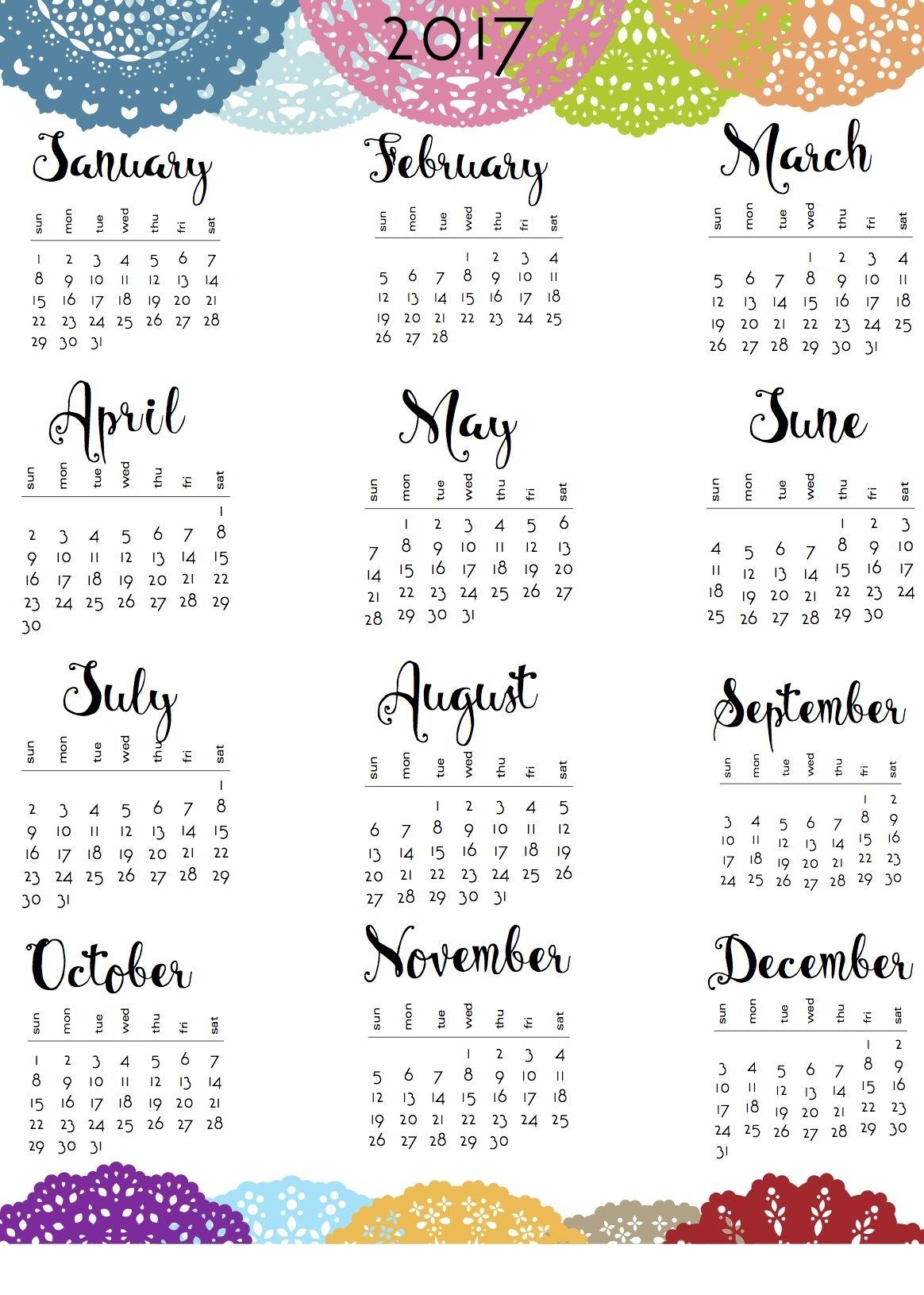 Collect Small Calendar Printable