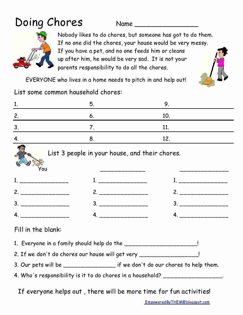 Collect Social Skills Fill In The Blanks Printable Worksheets