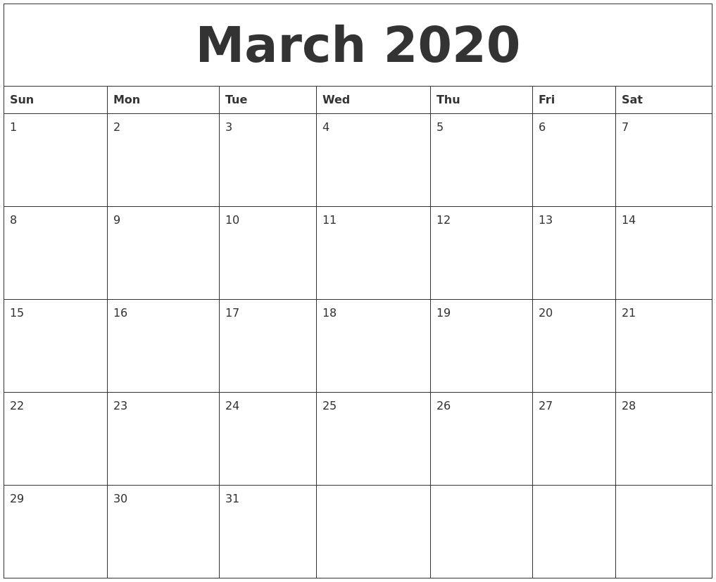 Collect Sunday Through Saturday Calendar