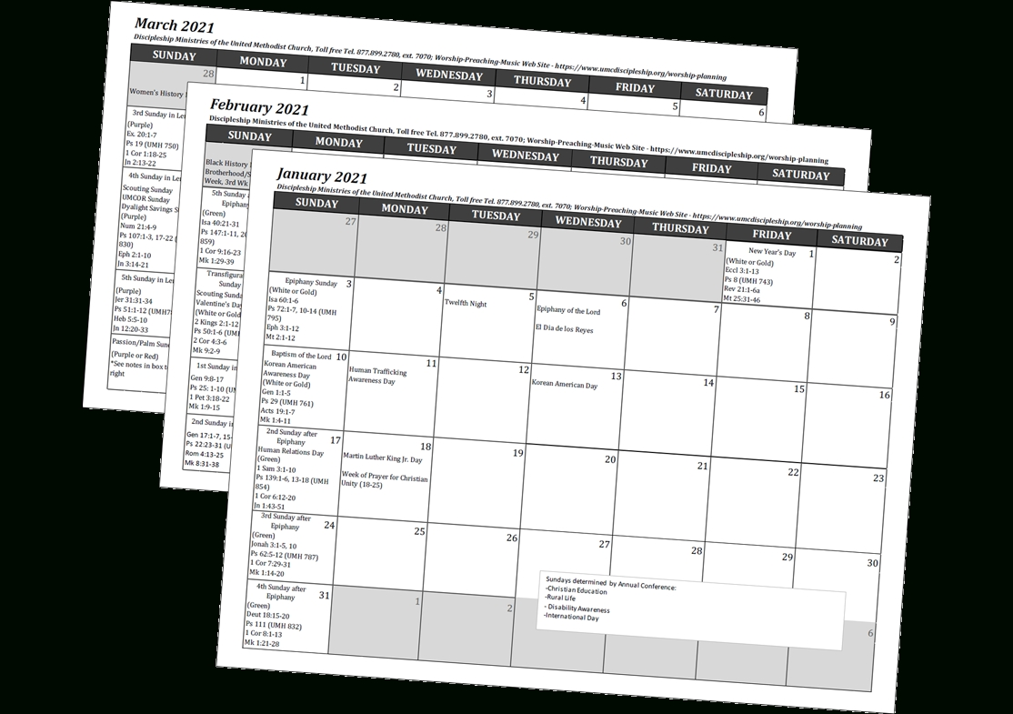 Collect Umc Lectionary 2021 Calendar