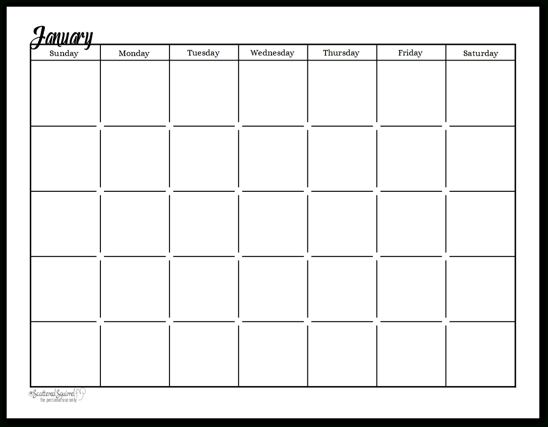 Collect Undated Calendar Printable Free