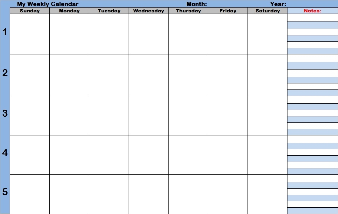 Collect Weekly Appointment Schedule With Time Slots Template Printable