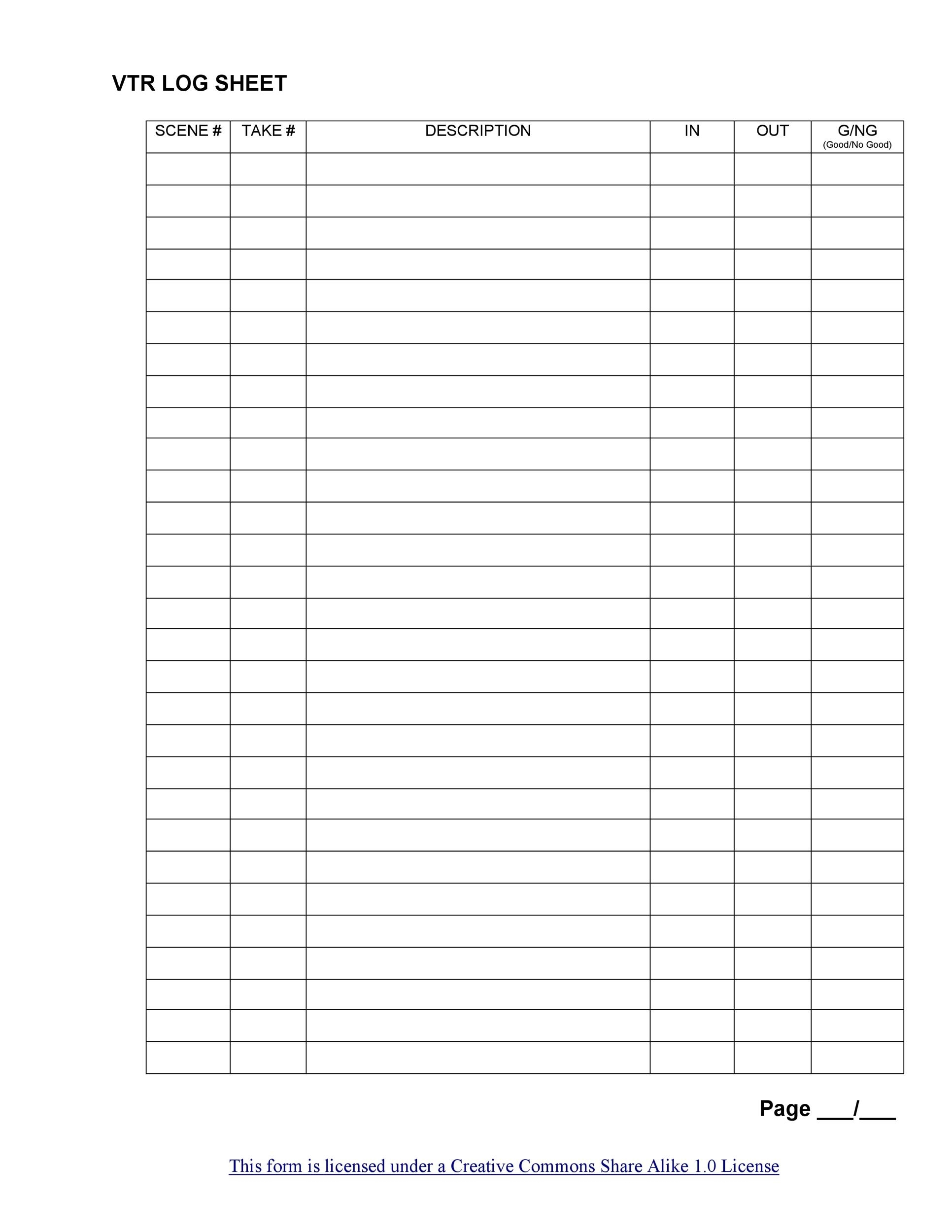 Collect Weekly Sign In Sheet Printable Blank