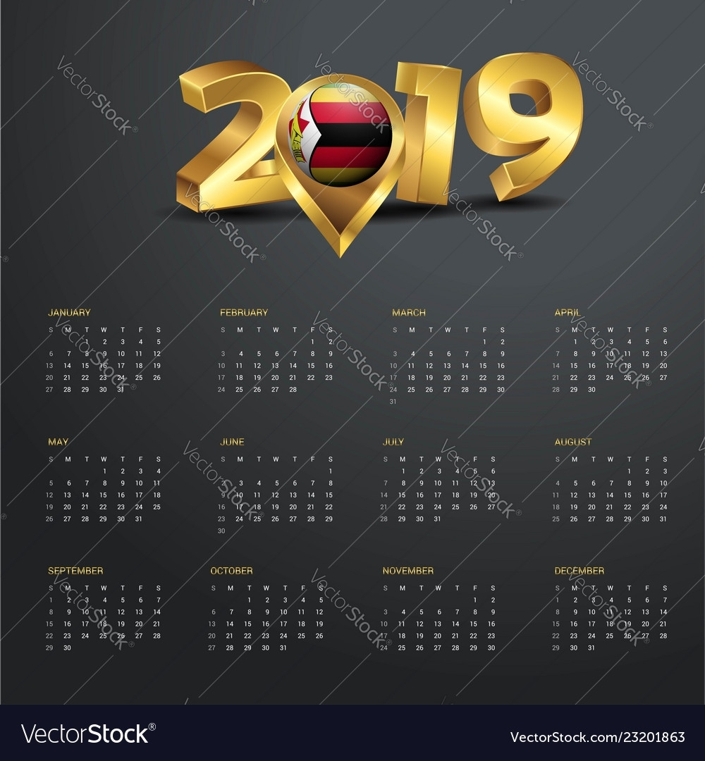Collect Zimbabwe Calendar With Holidays