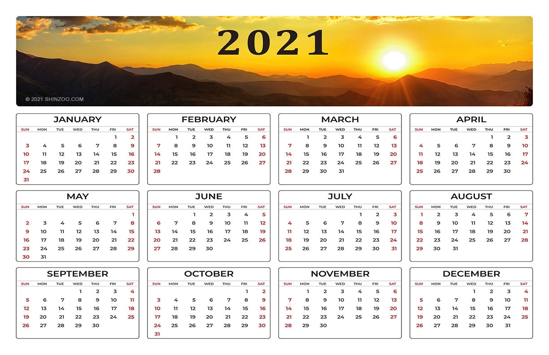 Get 11X17 Printable Calendar 2021