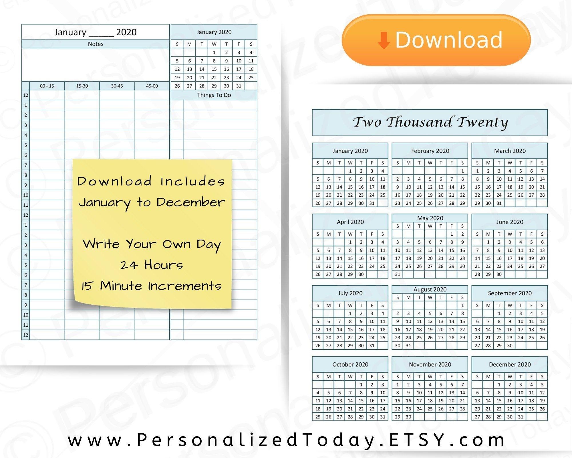 Get 15 Minute Schedule Pdf