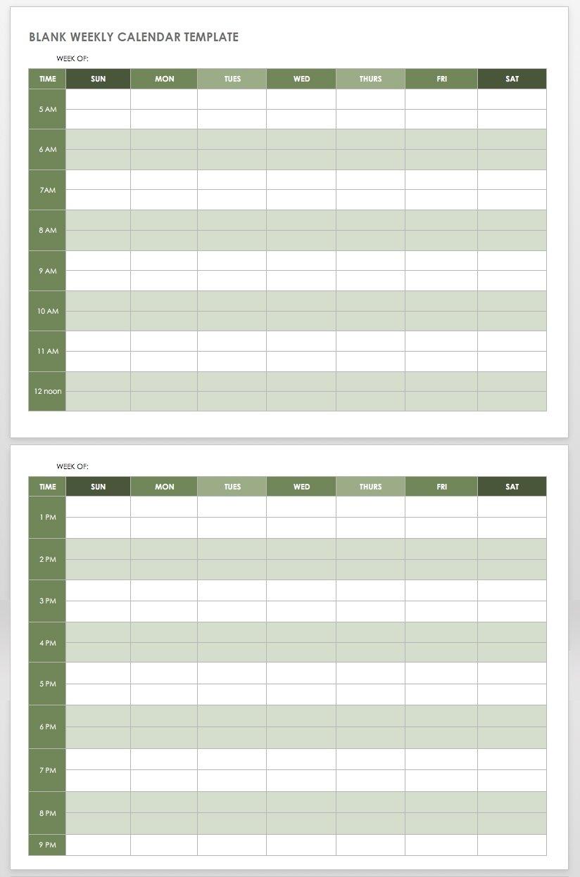 Get 2 Week Calendar Template