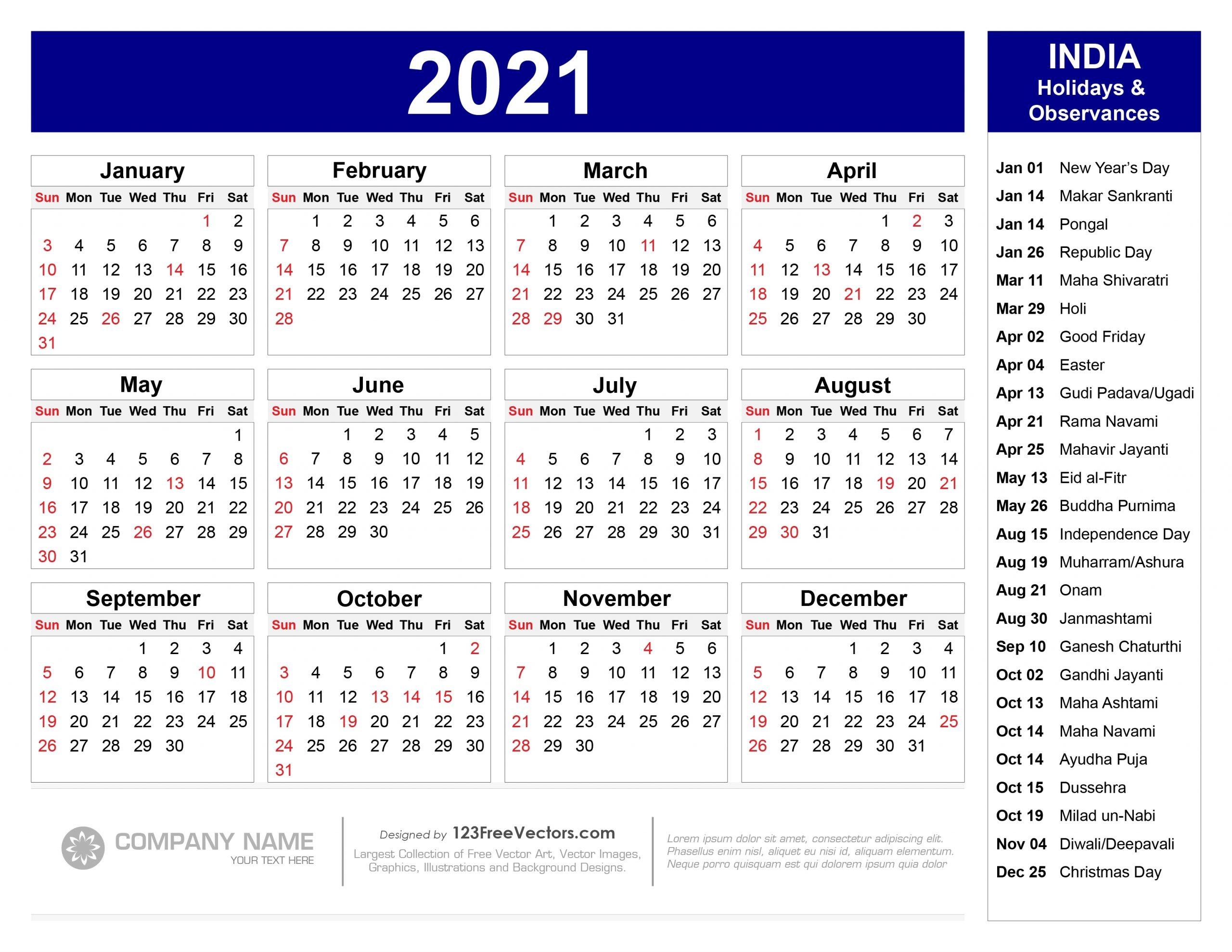 Get 2021 August Calendar Hindi