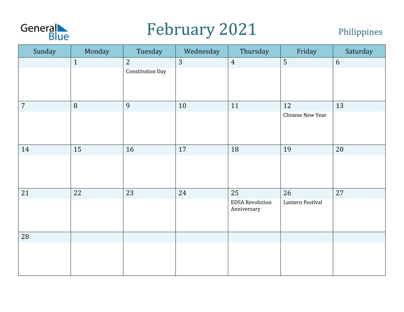 Get 2021 Calendar Philippine Holidays