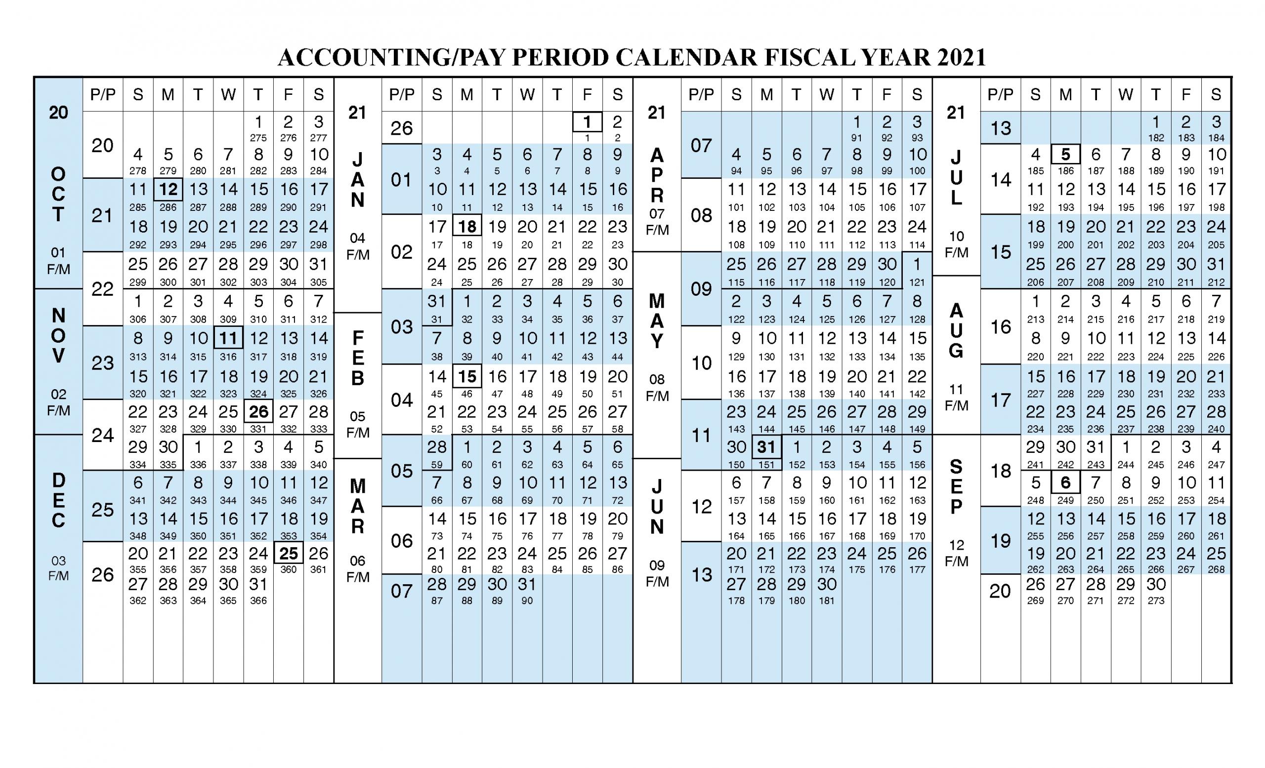 Get 2021 Financial Calendar With Week Numbers