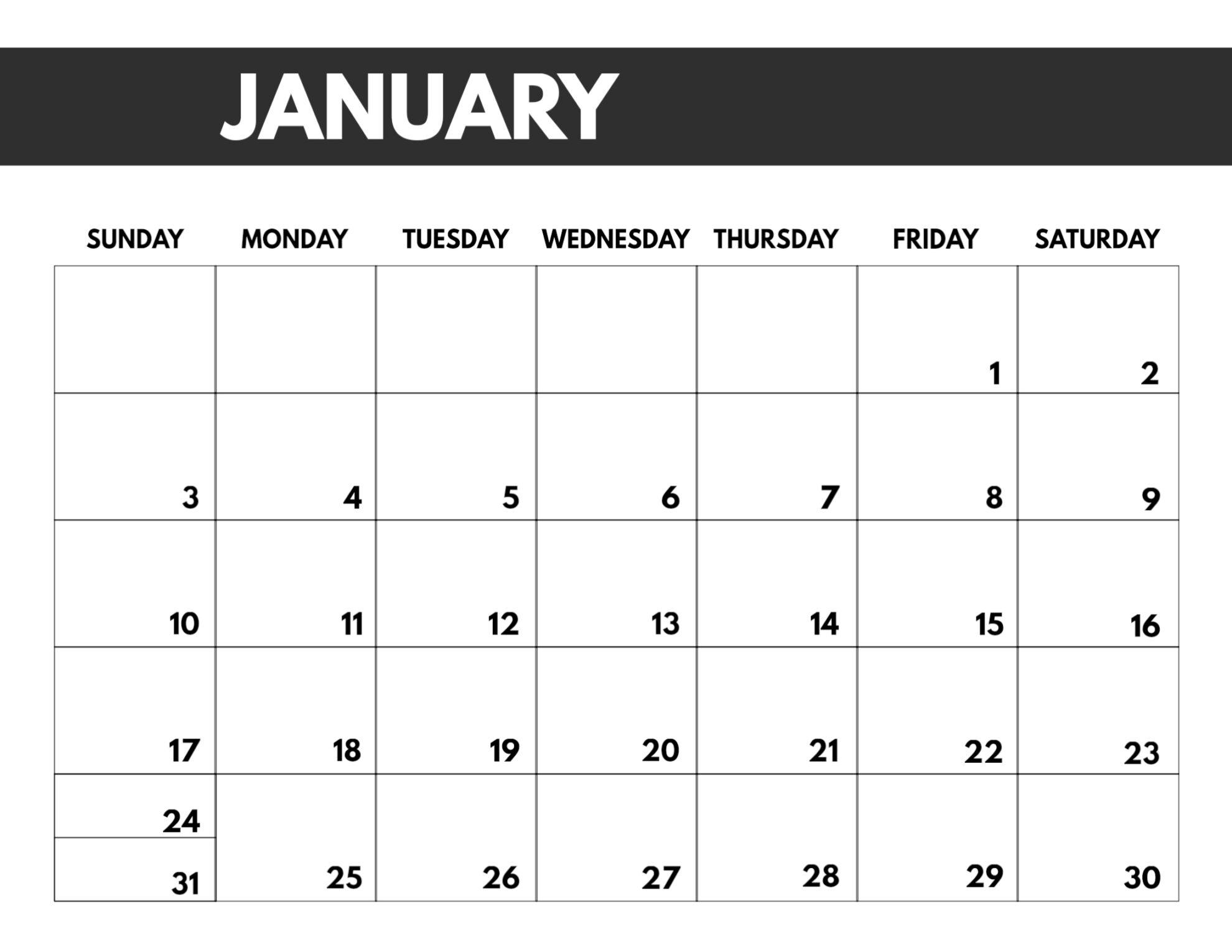 Get 2021 Monthly Calendar