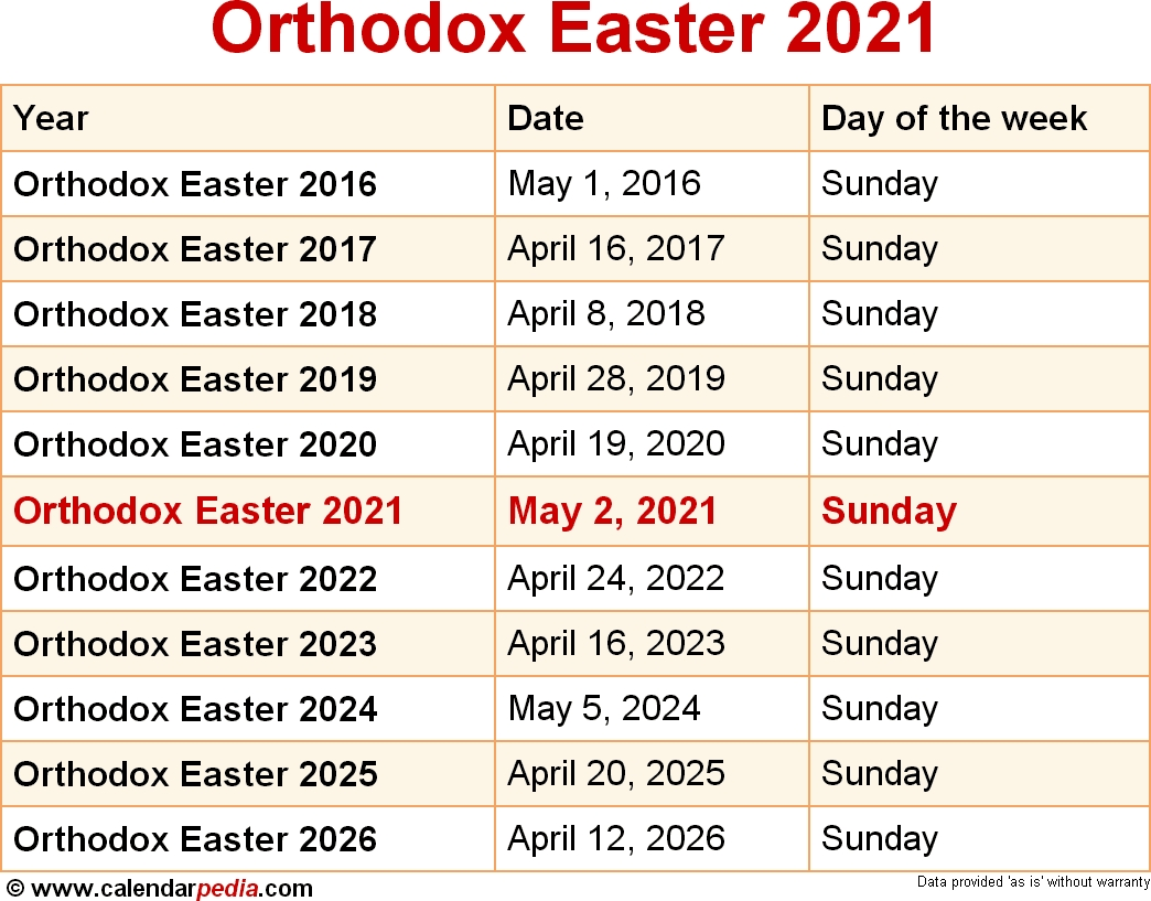 Get 2021 Orthodox Church Calendar