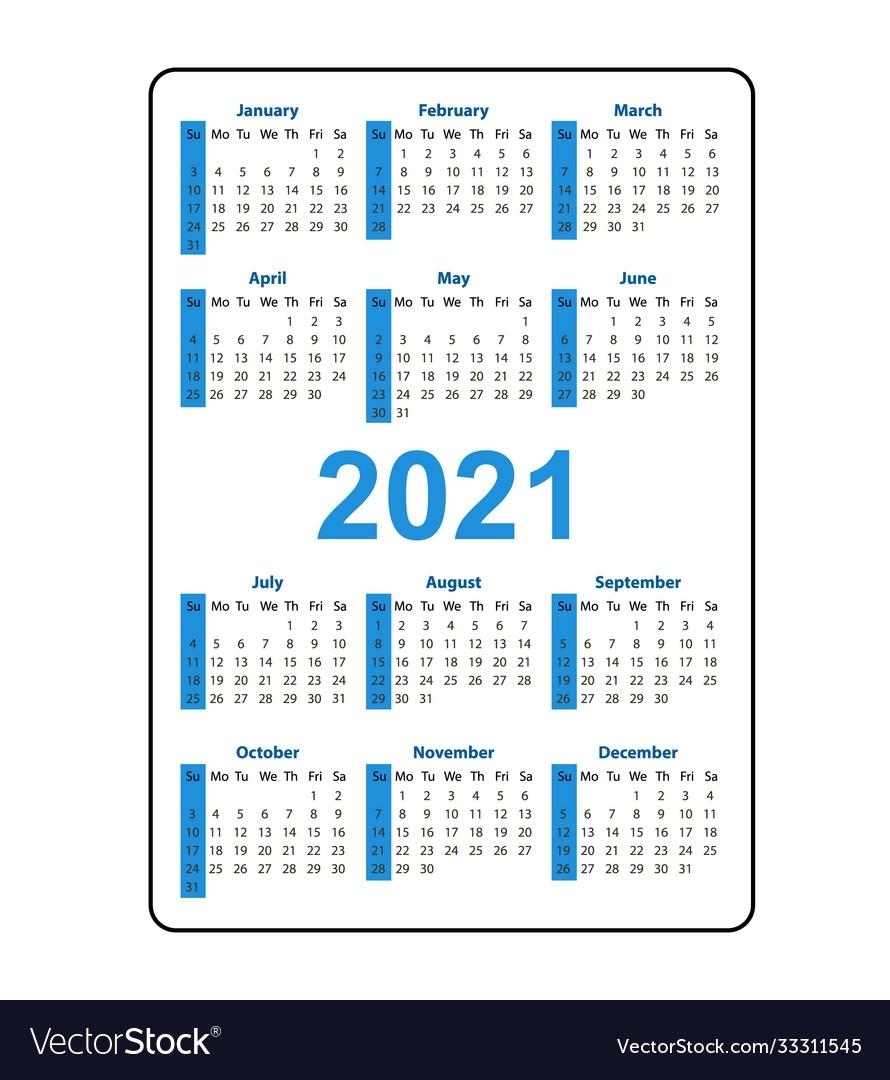 Get 2021 Pocket Calendar Printable