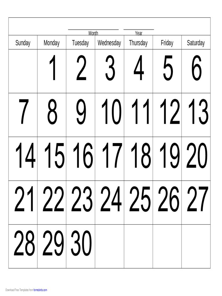 Get 30 Day Calendar Online