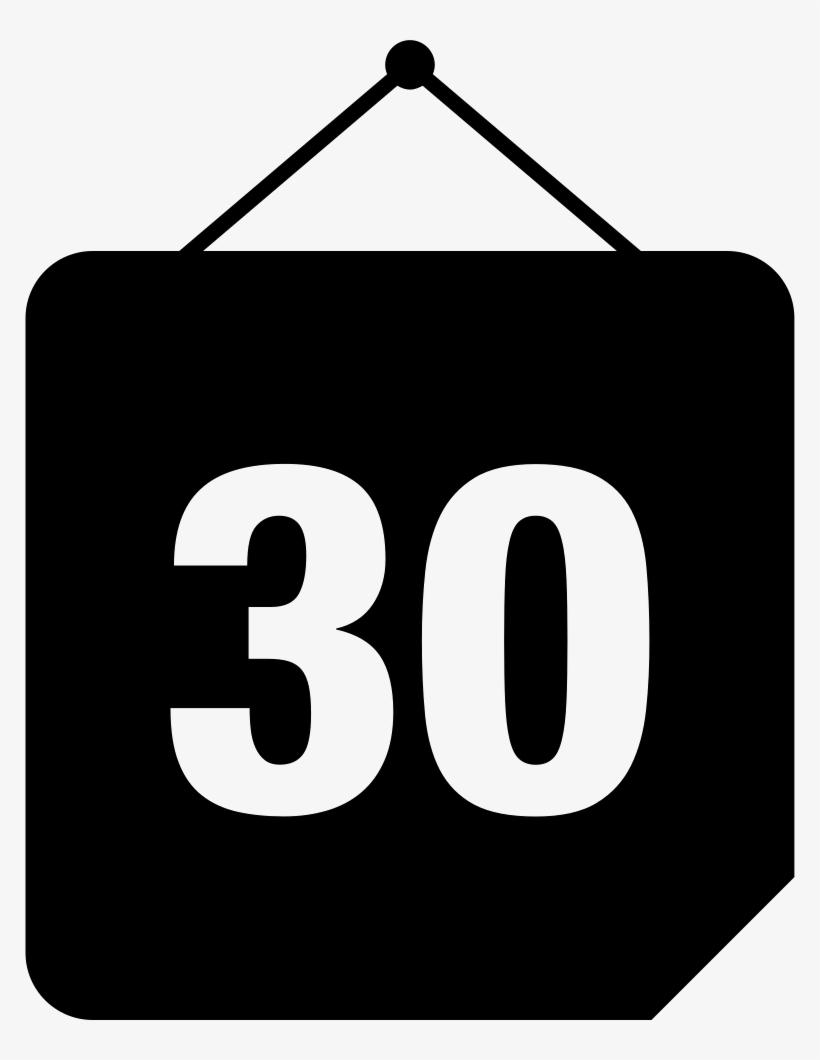 Get 30 Day Calendar Page
