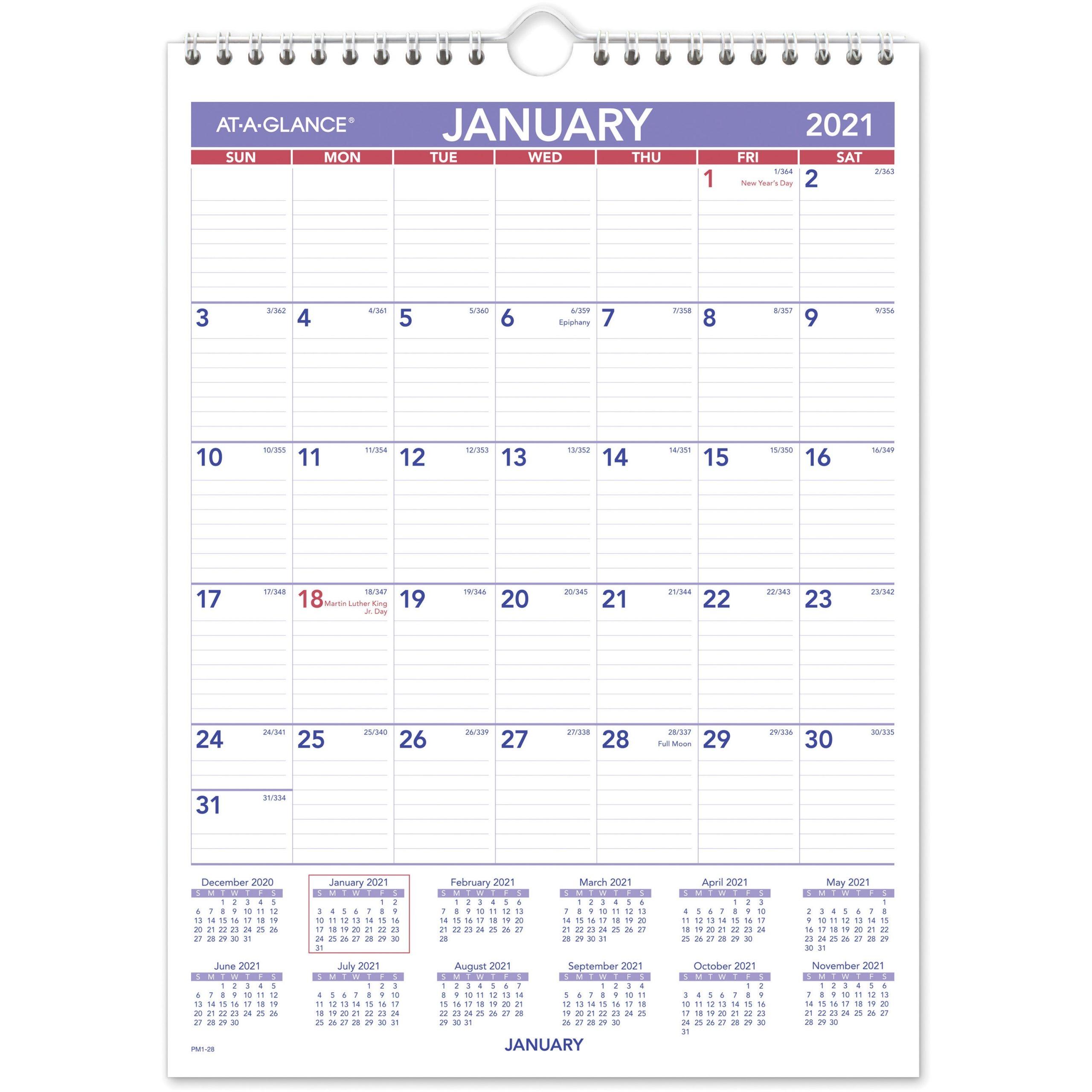 Get A Month At A Glance December