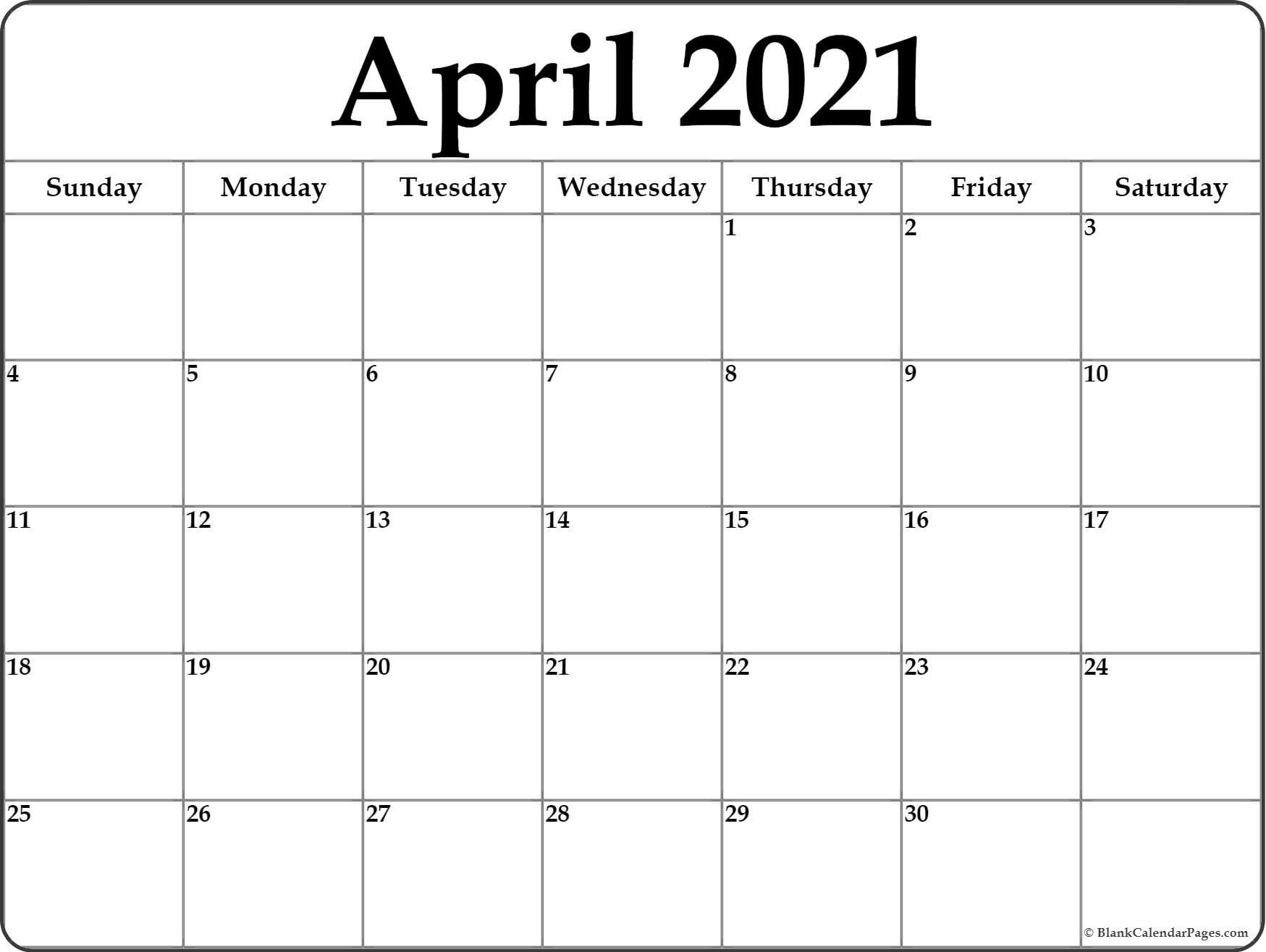 Get April May Calendar 2021