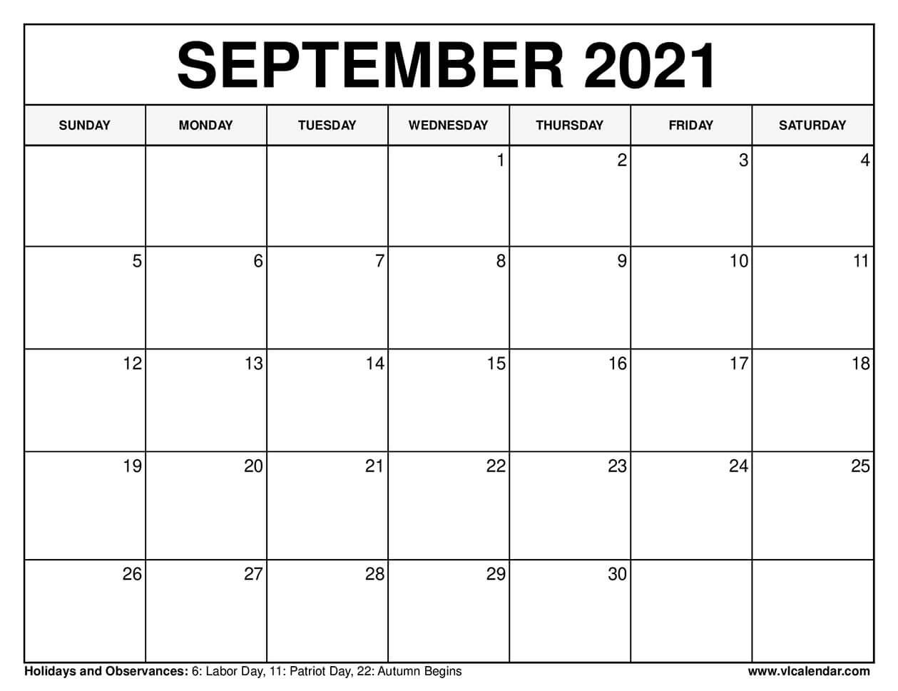 Get Aug Sept Calendar 2021 Printable