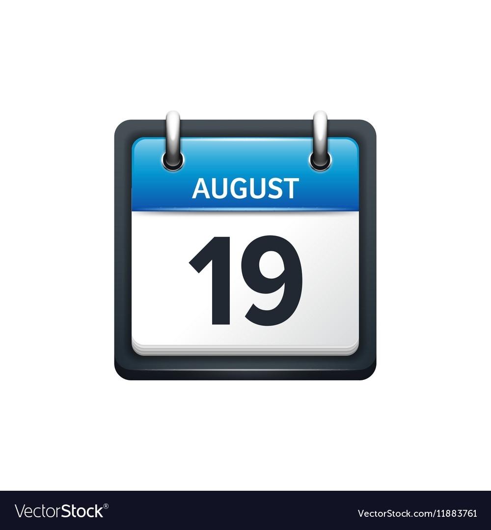 Get August 19 Calender