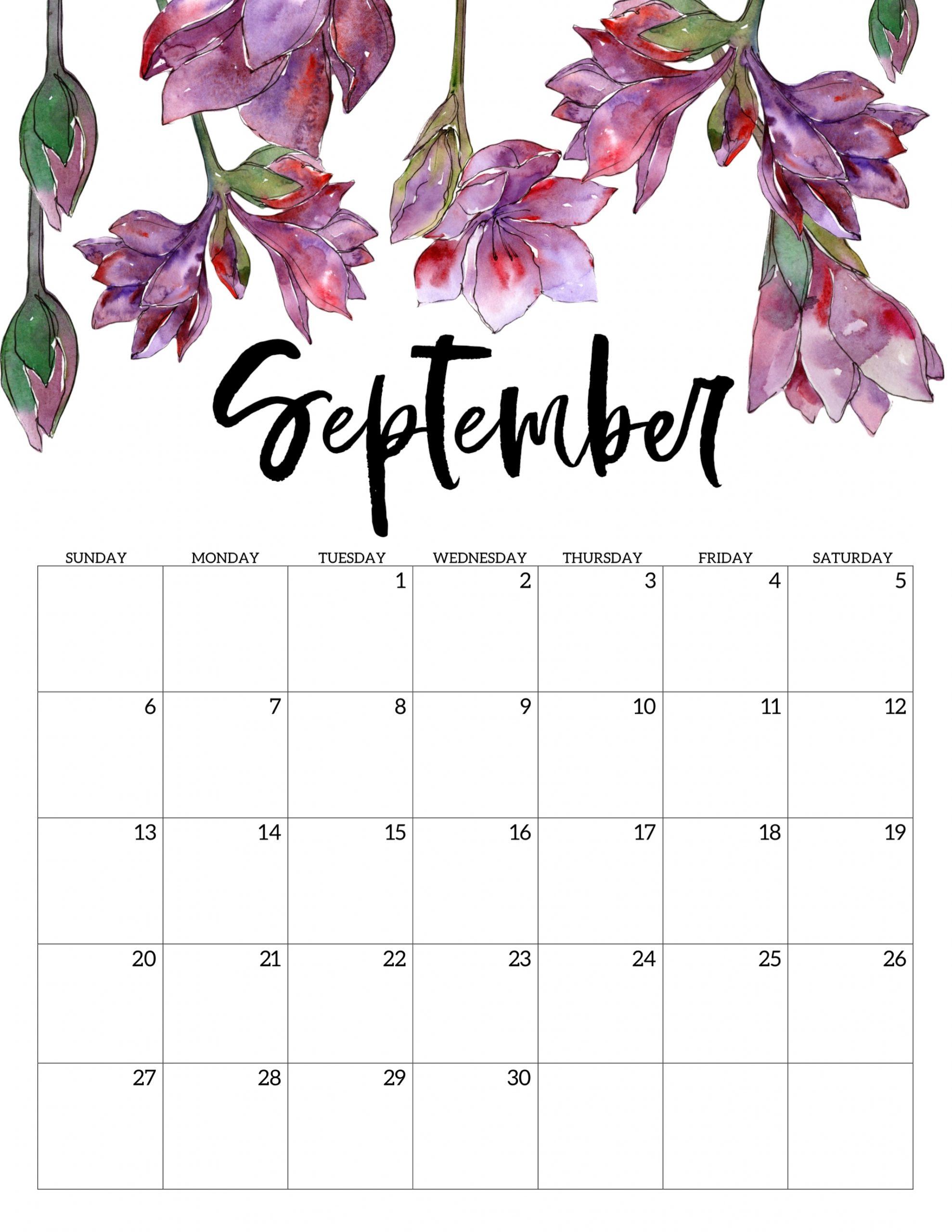 Get August Girly Printable Calendar