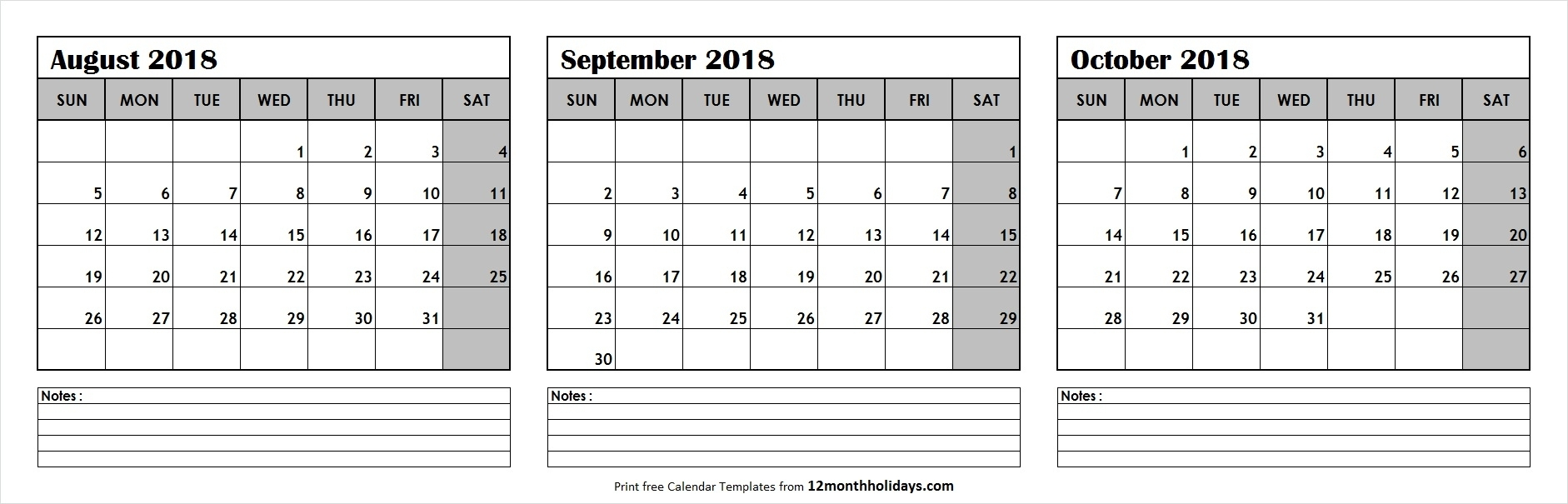 Get August Through October