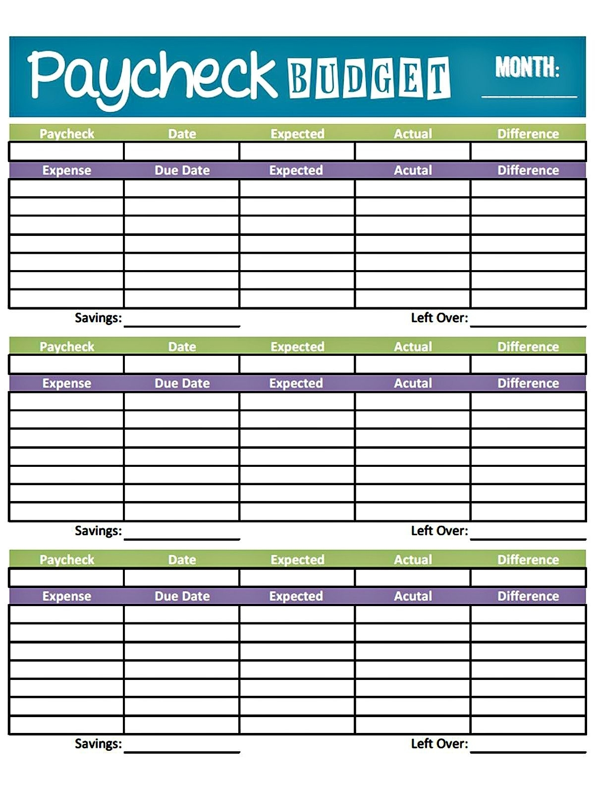 Get Bi Weekly Bill Payment Worksheet