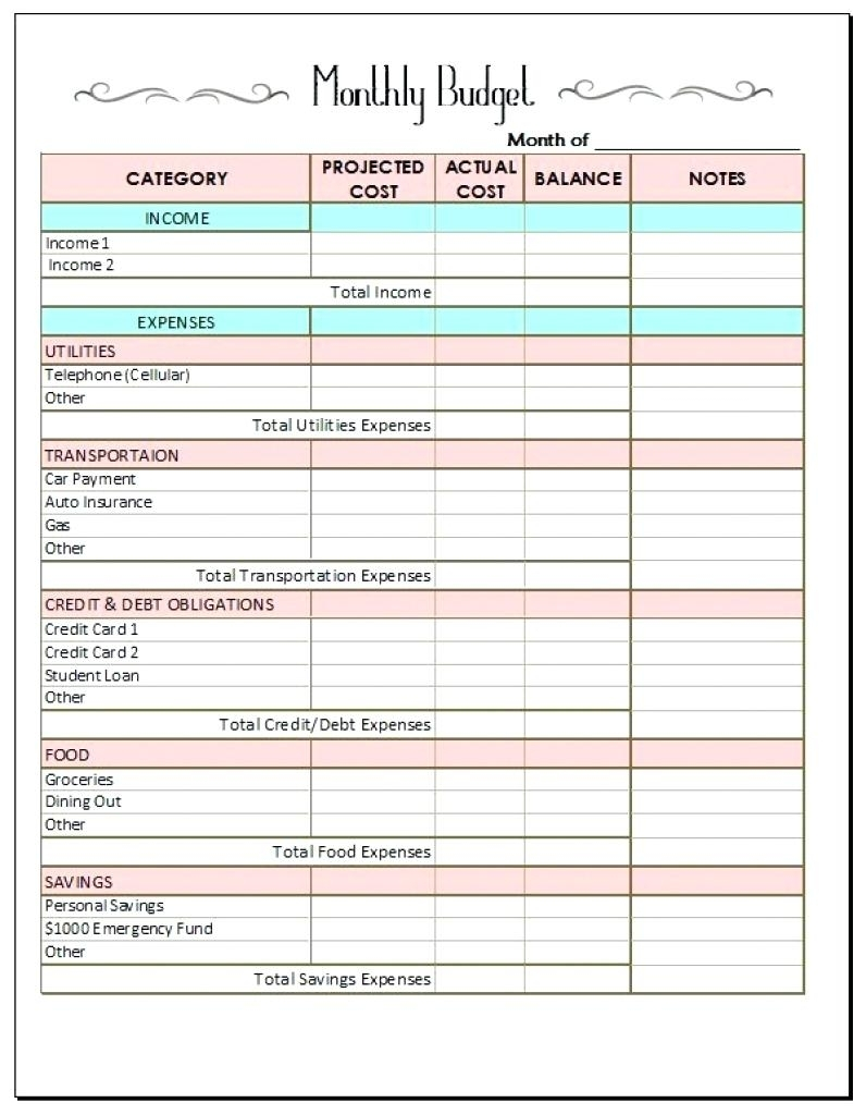 Get Bill Paying Worksheet
