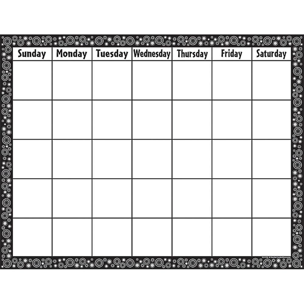 Get Blank Calendar Chart For Classroom