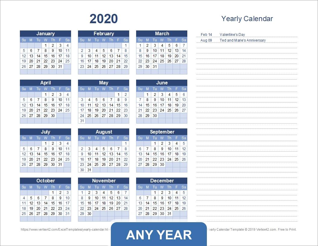 Get Blank Full Year Calendar