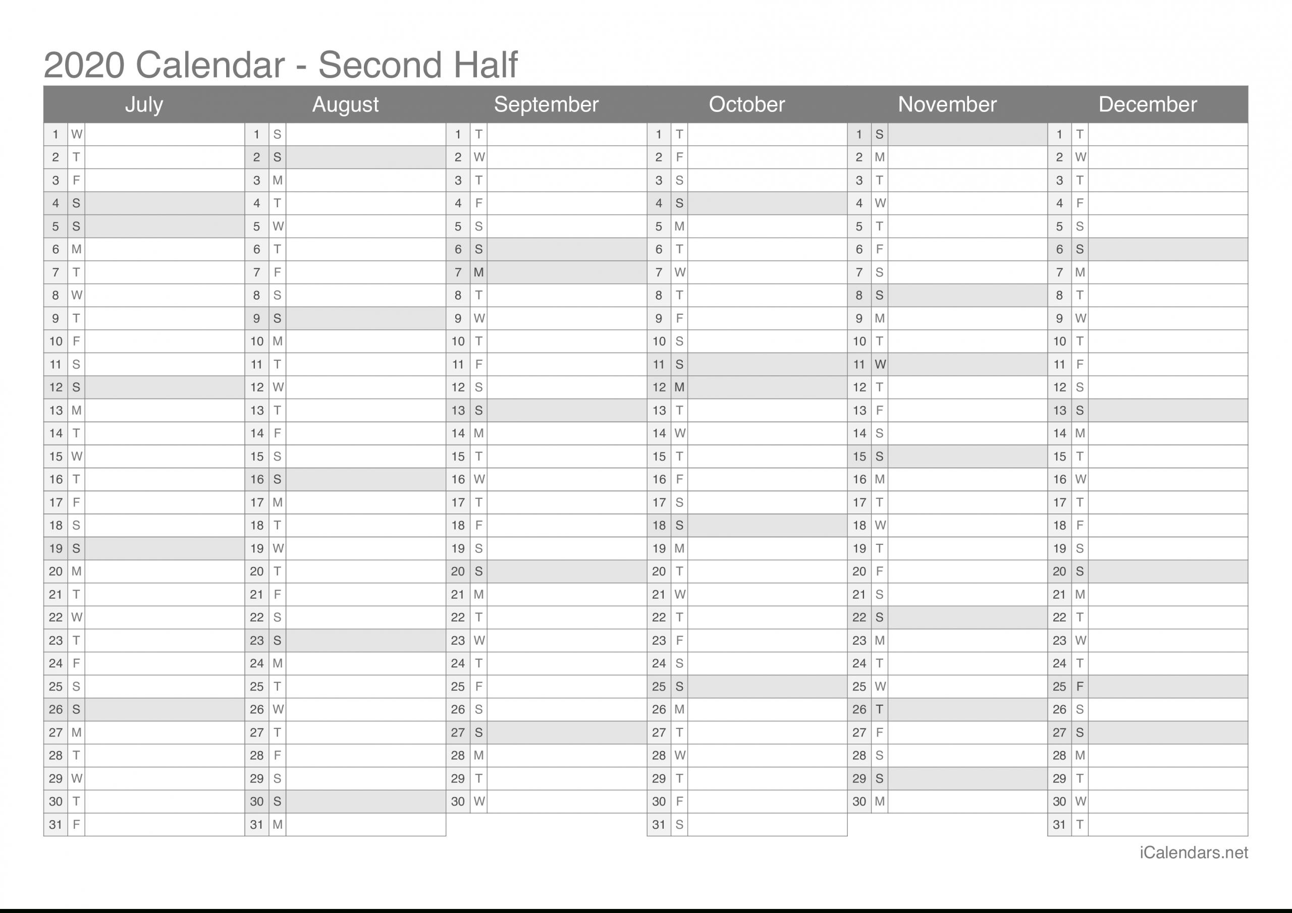 Get Blank Six Week Calendar