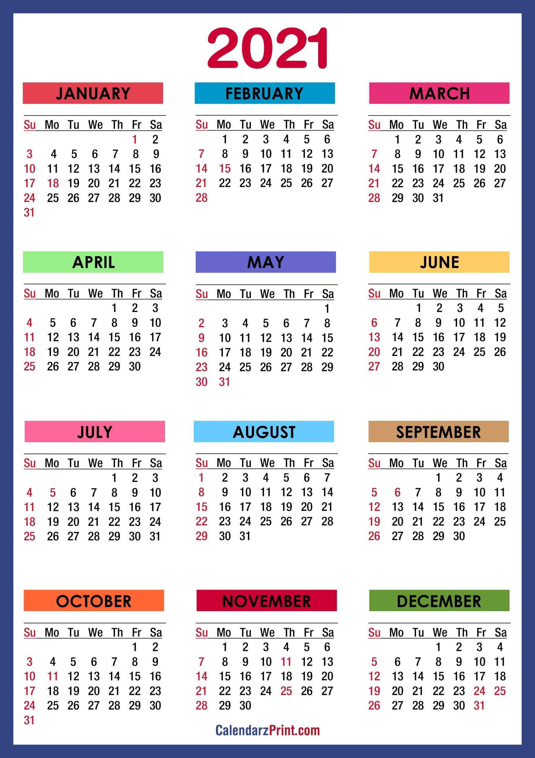 Get Calendar 2021 Hd