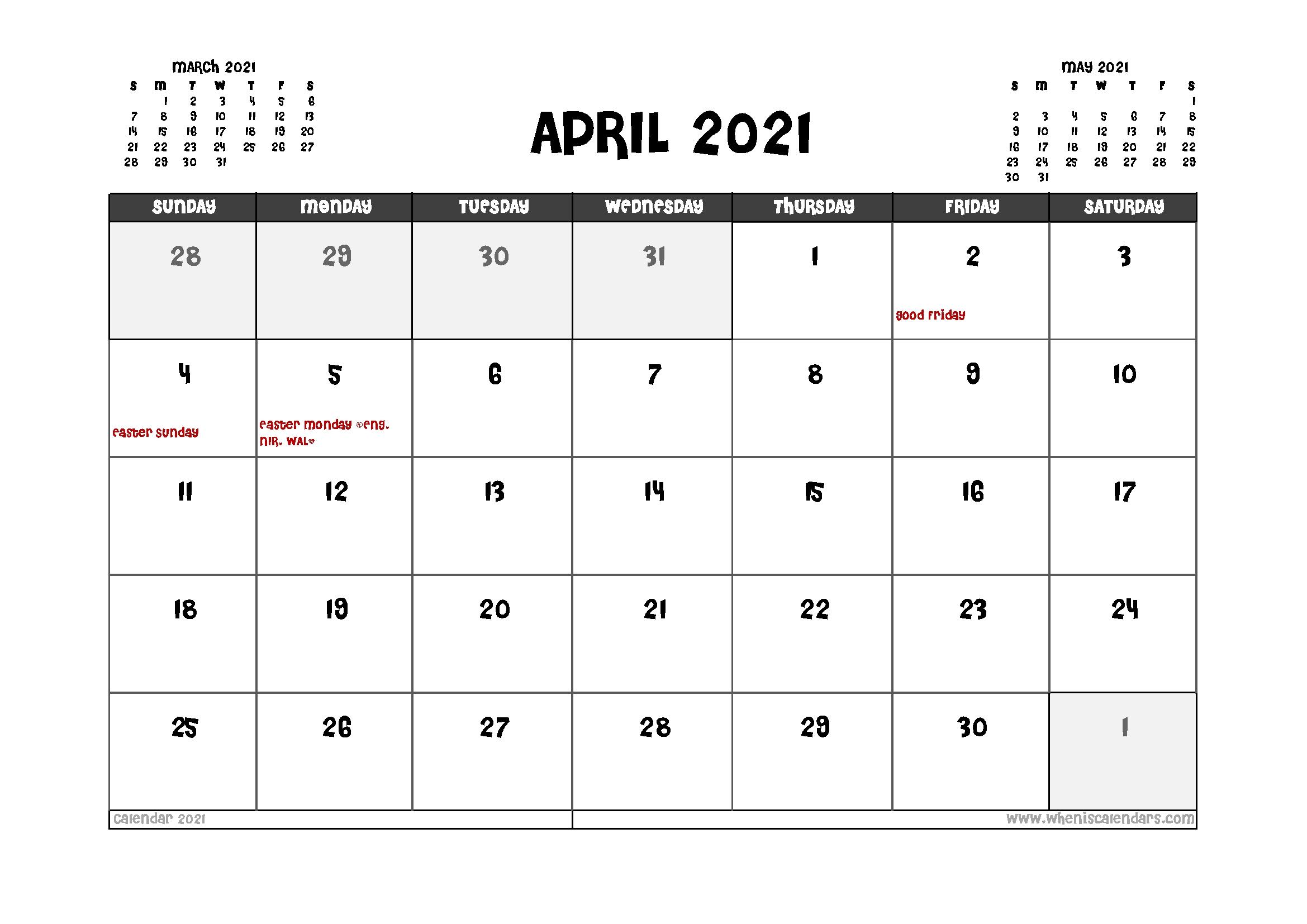 Get Calendar 2021 Uk