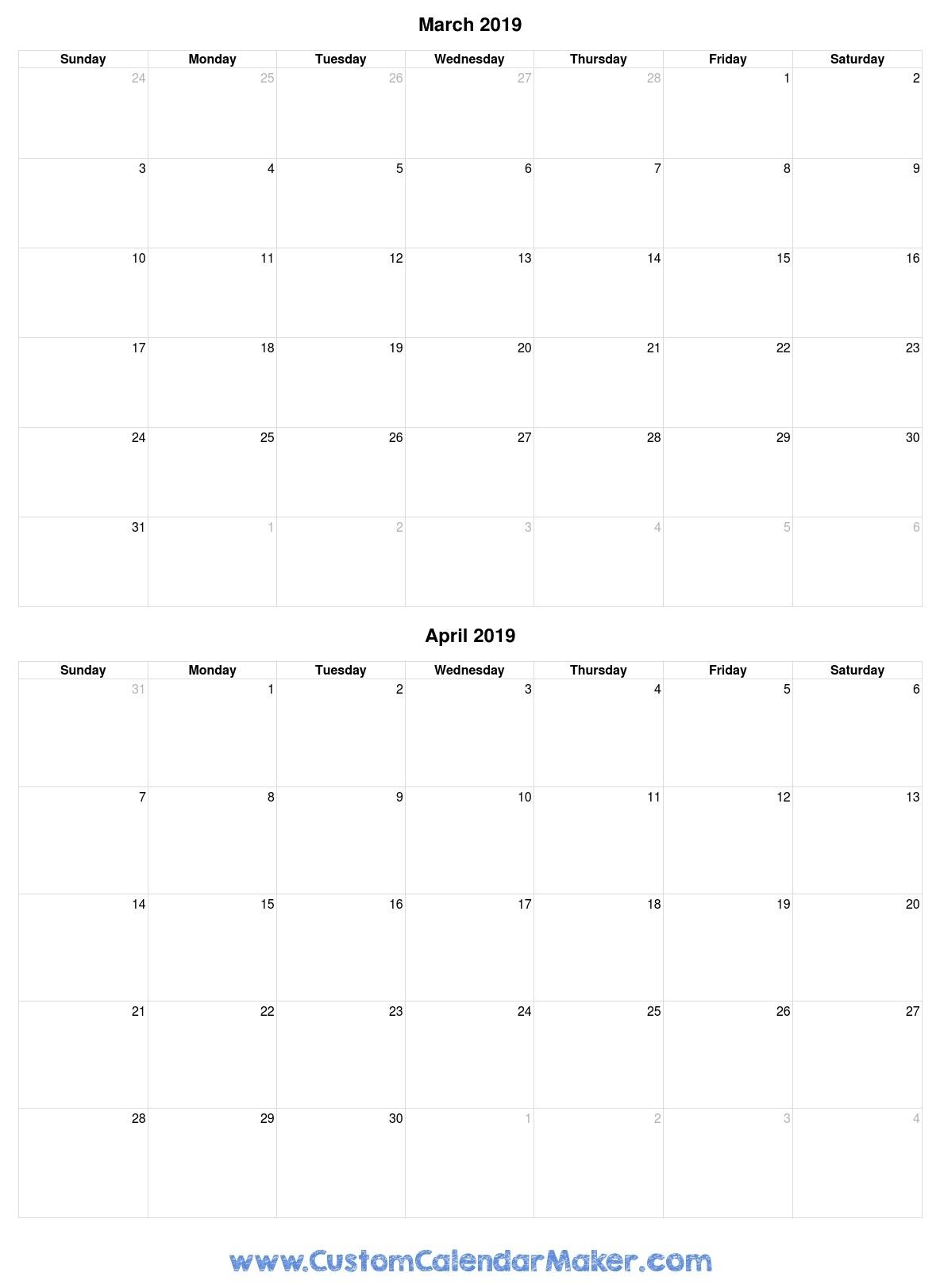 Get Calendar April To March