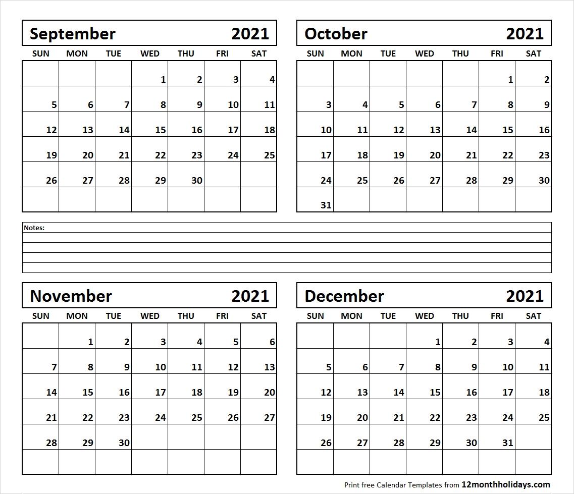 Get Calendar November – December 2021