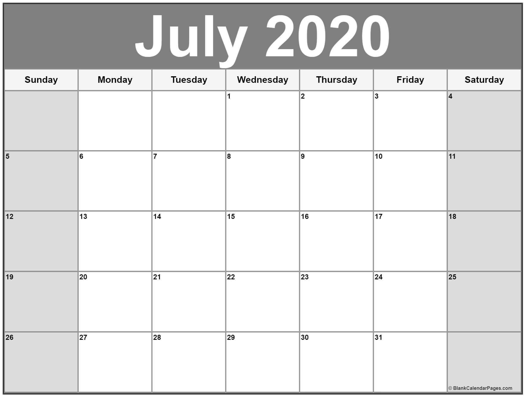 Get Calendar Page 2021 June And July