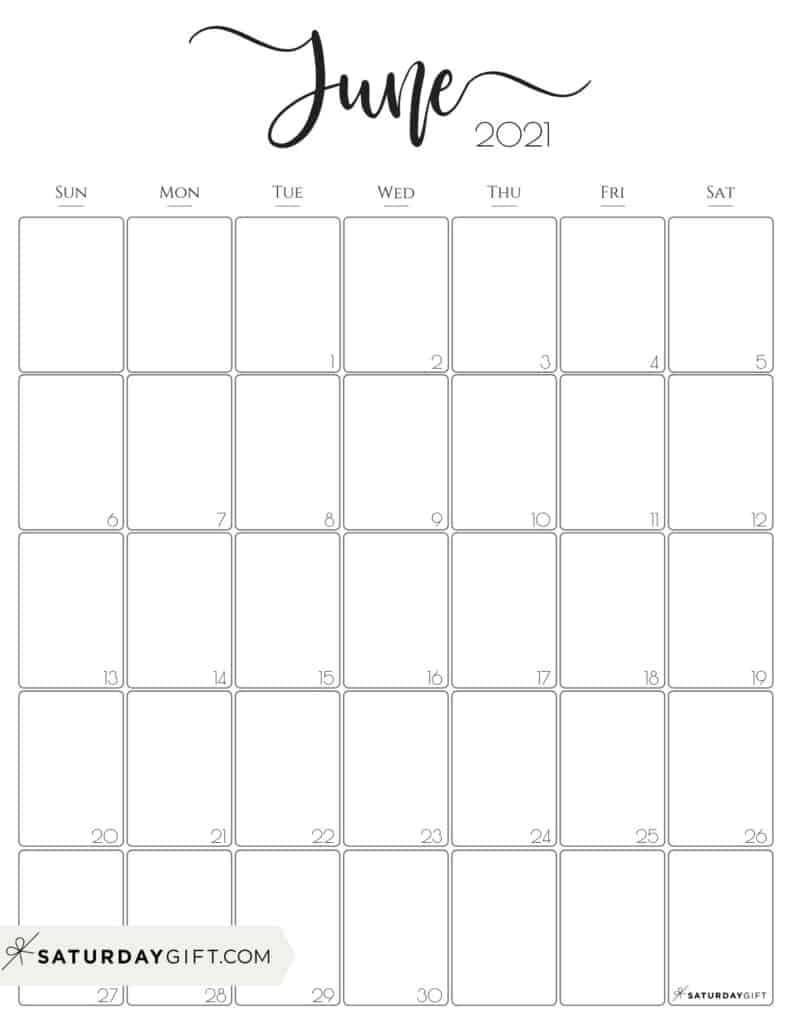 Get Calendar Weekly June 2021 Printable