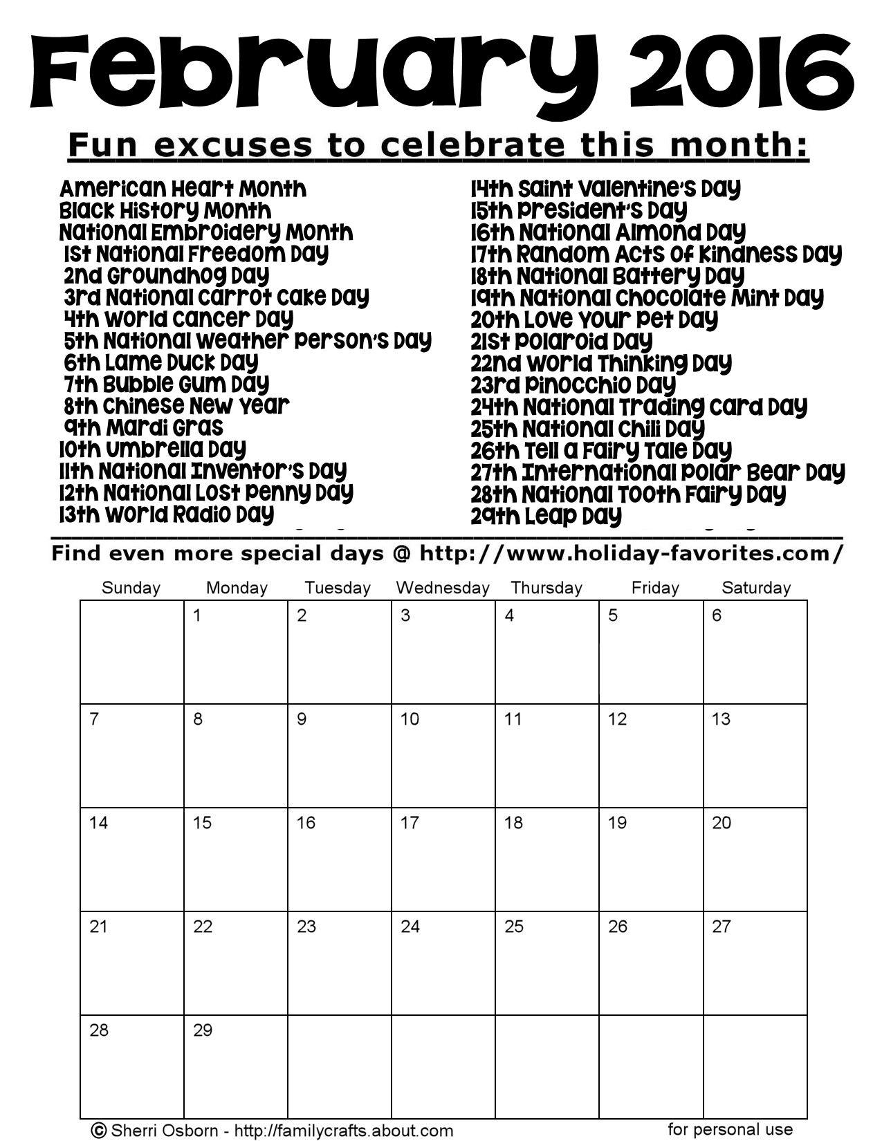 Get Calendar With All Special Days